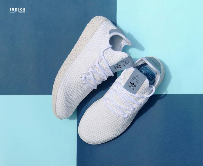 INDiCE ↗ adidas x Pharrell PW Tennis HU BY8718 中性運動休閒鞋 夏日白藍