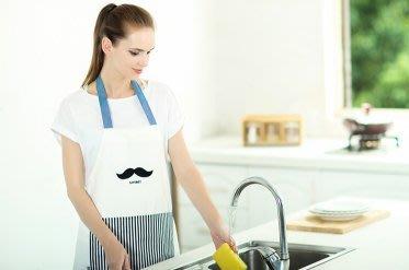 圍裙甜心~美式時尚廚房烘焙咖啡廳圍裙-胡子版【現貨】