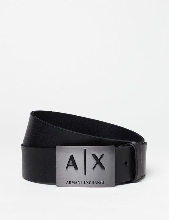 T☆【A/X配件館】☆【100%真品Armani Exchange真皮皮帶】☆【AXB001B2】(黑色)9/30到貨