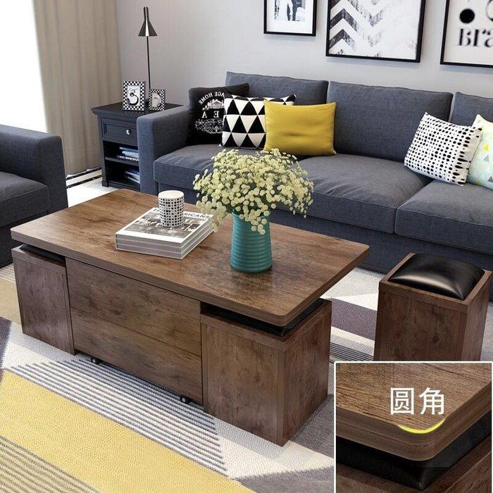 【森林原木手工家具】升級版多功能變形茶几餐桌組