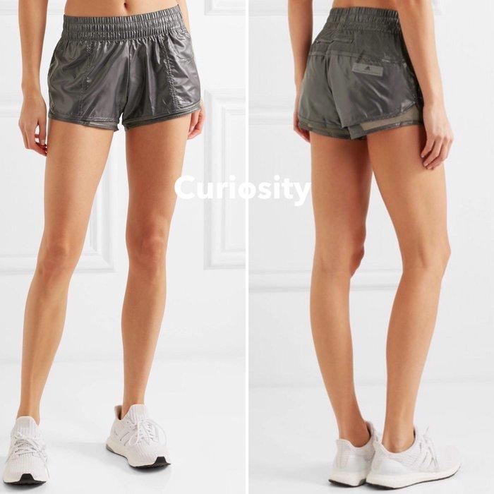 【Curiosity】adidas by Stella McCartney網布邊飾亮面運動短褲$2900↘$2199免運