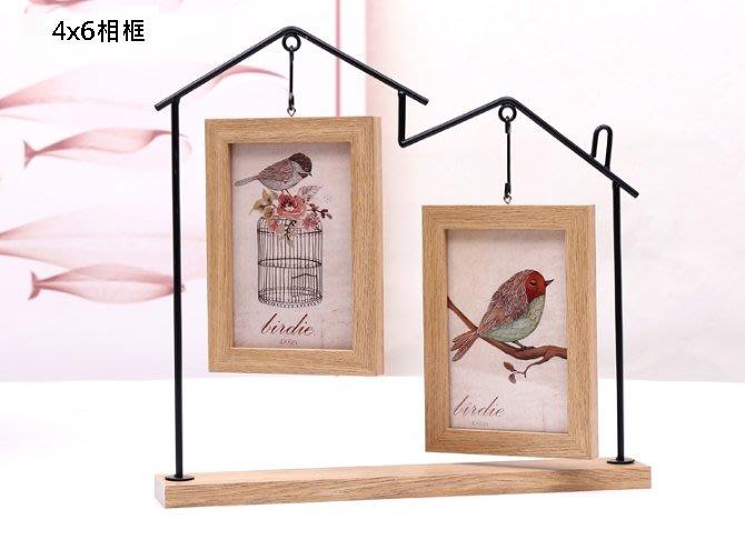 《特價$390》創意北歐4x6相框 鐵藝/木紋/玻璃相框擺設 home相框