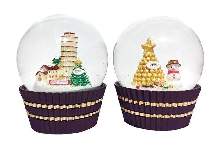 現貨【2017限量金莎聖誕水晶球】一套2款,只有1組!!