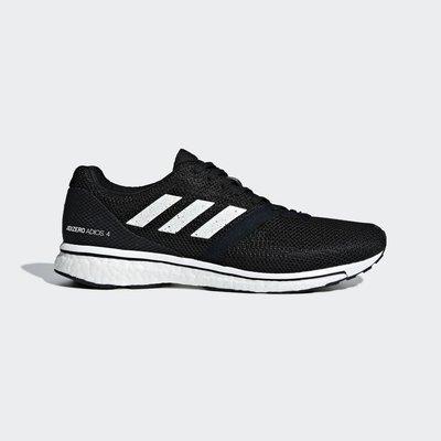 [狗爹的家] ADIDAS ADIZERO ADIOS 4 M 黑 白 BOOST 輕量 男慢跑鞋 現貨 免運