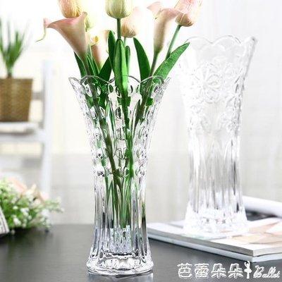 花瓶歐式大號玻璃透明花瓶 客廳擺件插花水培富貴竹百合乾花落地飾品