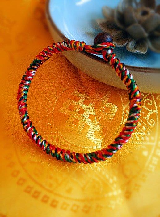 【弘慧堂紫蟬銀飾】 西藏純手工編織正宗不滅長壽除障加持金剛繩金剛結手鏈手繩