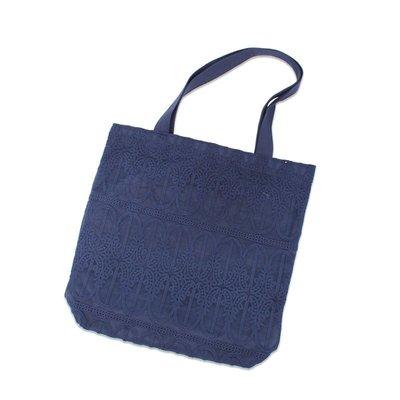 單肩包 帆布 手提包-小清新蕾絲休閒購物袋女包包5色73wo47☆奧莉芙☆
