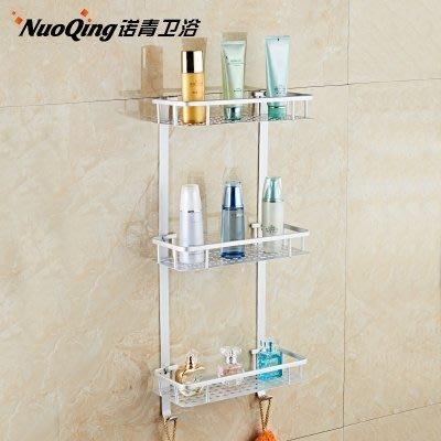 東大門平價鋪  太空鋁浴室3層置物架,洗手衛生間掛壁式3層衛浴架