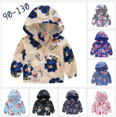 兒童風衣外套春秋男女童拉鏈夾克多款圖案連帽外套 Dears 外套~A15~9001~C~