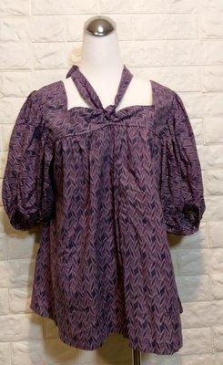 【JJ淘寶屋】全新 英國品牌atmosphere 多種穿法 紫色上衣