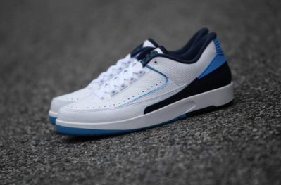 Nike Air Jordan 2 retro low UNC 832819-107喬丹AJ-2二代低筒NCAA北卡藍白