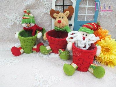 ☆[Hankaro]☆歐美創意聖誕布置道具聖誕造型小尺寸置物籃(樣品出清)
