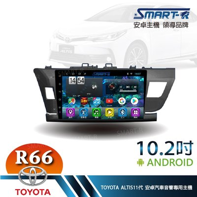 【SMART-R】TOYOTA ALTIS 11代 10.2吋安卓4+64 Android 主車機-暢銷八核心R66