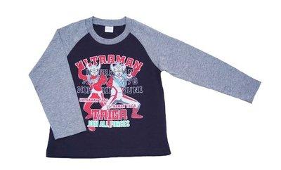 *小栗鼠散步鋪*日本帶回 超人力霸王 大河 鹹蛋超人 超人TATGA  雙色款 薄款上衣 長袖上衣 長T 外出 上學