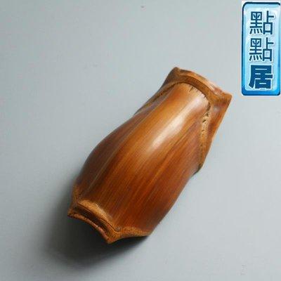 【點點居】手工雕刻功夫茶道竹制實木龜甲竹佛肚竹茶則茶荷文玩茶寵收藏擺件竹雕竹製品DD01526
