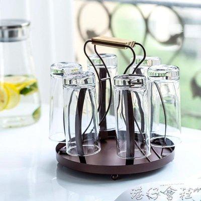 杯架-創意水杯架家用杯架置物架客廳茶杯玻璃杯子架瀝水掛架子收納歐式  (新品)-微利雜貨鋪-可開發票