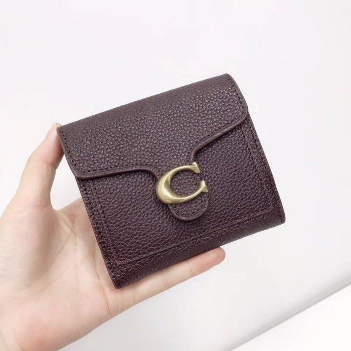 COACH 76302 76527 熱賣款經典素面牛皮女士短夾 錢包 附零錢袋