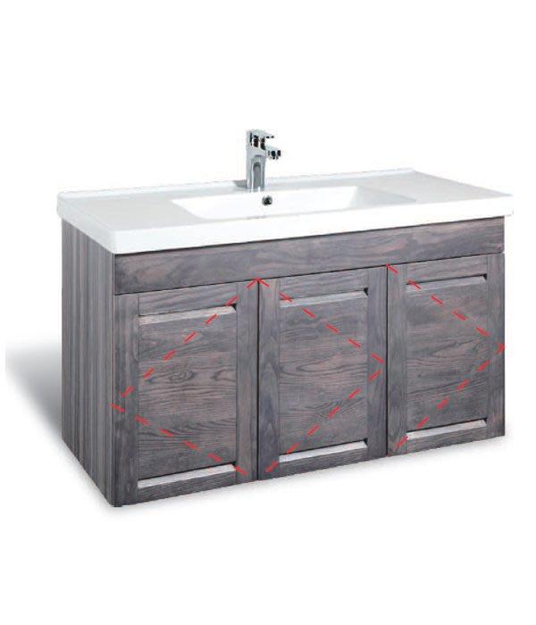 CORINS 雙風采洗灰 CD-R-100 防水發泡板檯面盆浴櫃