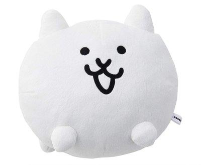 日本正版 貓咪大戰爭 貓 白色 娃娃 玩偶 日本代購