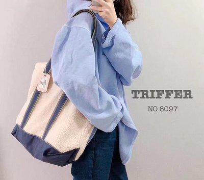 [布藝·生活。]日韓triffer絨毛面料tote bag