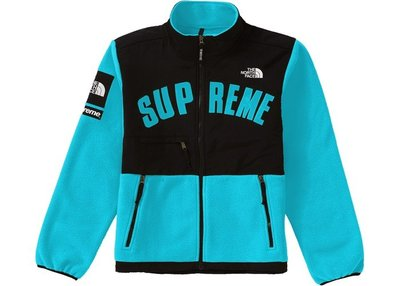 「Rush Kingdom」Supreme TNF Arc Logo Denali Fleece 北臉 湖水綠 羊毛外套
