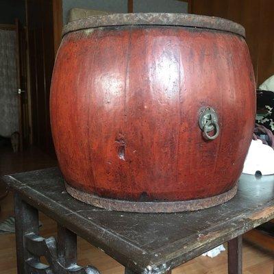 《售出勿下標》清朝老件—台灣儲物圓筒