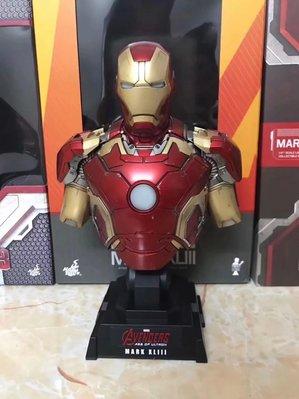 清倉 【Avengers】復仇者聯盟 鋼鐵人 MK43 14胸像 1比4半身像 可發光 含底座高23CM