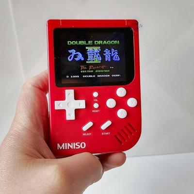 遊戲機MINISO名創優品復古迷你游戲掌機620款經典游戲機成人兒童年益智