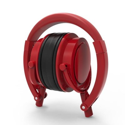 耳機式耳罩耳機紅色重低音手機電腦通用便攜折疊