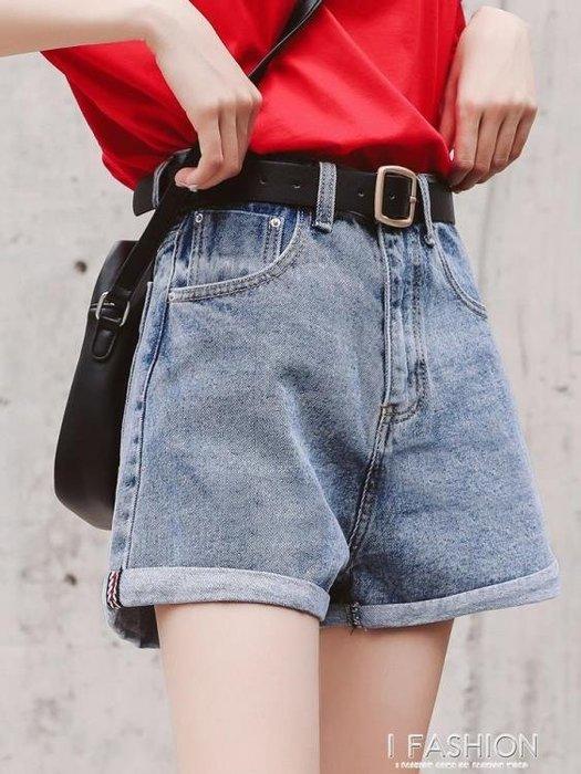 牛仔短褲女夏2018新款寬鬆韓版學生百搭chic褲子高腰顯瘦闊腿熱褲