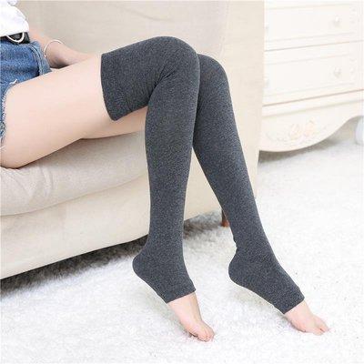 踩腳過膝襪硅膠防滑高筒長筒襪子女春秋顯瘦純棉護膝保暖大腿襪套