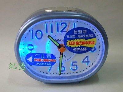 【紀德精品】贈國際牌電池 台灣製造 MASTER 225 大鈴聲鬧鐘 採用日本機芯  貪睡 LED燈光 H23