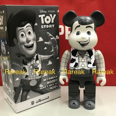 Medicom Bearbrick Disney Toy Story 400% Woody Black & White 胡迪 牛仔 be@rbrick