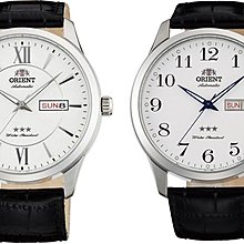 BuyLike!ORIENT FAB0B003W9 FAB0B004W9 白面 男女合用 皮帶 錶  (包快遞)