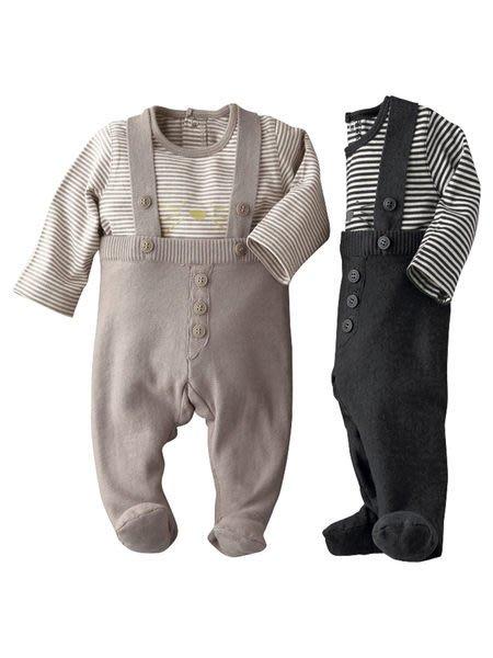 *Dou Dou House*法國歐洲進口vertbaudet童裝/針織吊帶褲套裝-咖啡色/深灰色(現貨+預購)