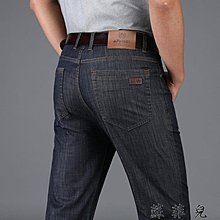 薄款牛仔褲男夏季超薄天絲休閒長褲