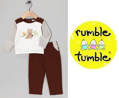 【童心歐美童裝】美國 Rumble Tumble 長袖上衣+長褲二件組 (18M)