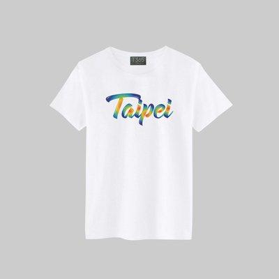 T365 TAIWAN 台灣 臺灣 愛台灣 Taipei 草寫 國家 彩虹圈圈 T恤 男女皆可穿 多色同款可選 短T