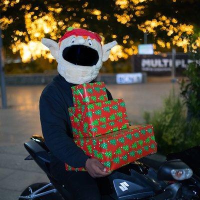 【丹】A_Moto Loot Helmet Cover 安全帽套 芝麻街 聖誕節 小精靈 精靈