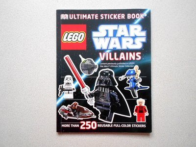 漫畫書 星球大戰 Star Wars Villains 250張貼紙 約32頁 LEGO Sticker Book