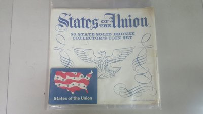 USA, States of THE Union ~ 50 STATE SOLID BRONZE COIN SET