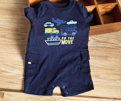 【Mr. Soar】 G107 夏季新款 歐美style童裝男童深藍色短袖連身裝 現貨