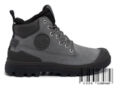 =CodE= PALLADIUM PAMPA SC OUTSIDER WP+ 防水皮革軍靴(鐵灰)76472-074 女