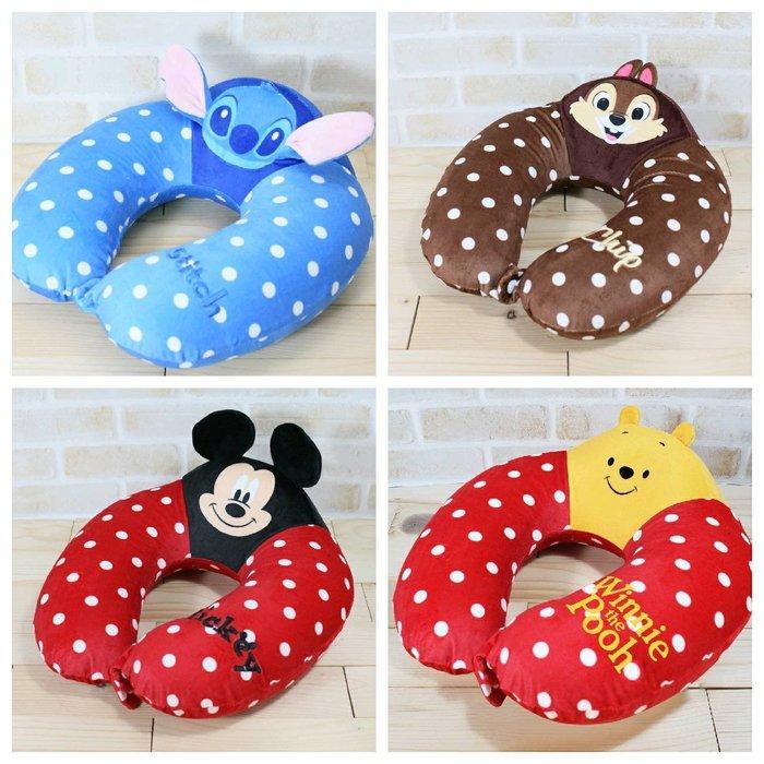 【正版】迪士尼 點點記憶棉 造型頸枕//U型枕 ~~四款可選~~
