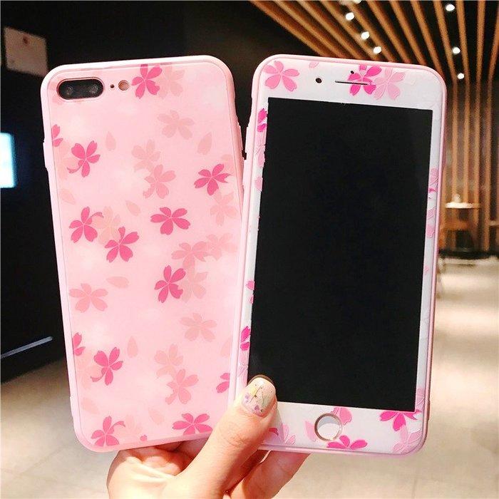千夢貨鋪-蘋果8plus鋼化膜7手機殼x彩膜6s全屏覆蓋xsmax全包玻璃套裝