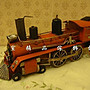 ~*歐室精品傢飾館*~ 復古風格~ 鐵製 老火車頭 模型擺飾(紅)~新款上市~