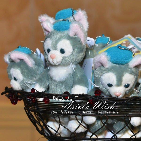 Ariel's Wish-日本東京迪士尼Duffy達菲好朋有傑拉東尼Gelatoni畫家貓咪站姿別針吊飾-現貨