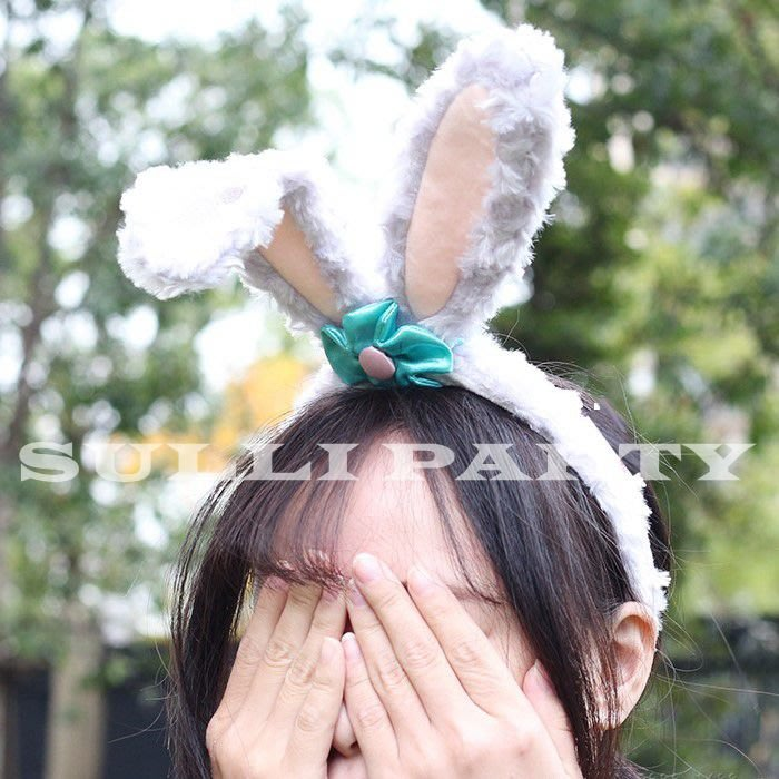 雪莉派對~史黛拉兔耳朵髮箍 萬聖派對 尾牙造型 stella lou 生日派對舞會 兔子配件 兔子耳朵髮圈