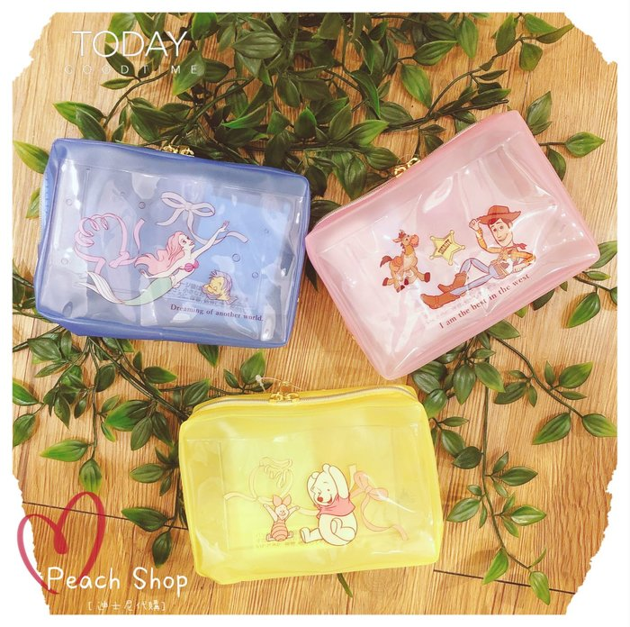 【桃子小舖 ♥ P.S 】 旅行分裝罐收納包組 美人魚/維尼/胡迪 Disney Store