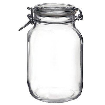 【無敵餐具】義大利FIDO玻璃蓋密封罐(1620cc) 菲多密封罐 收納罐 玻璃扣環密封罐 糖果罐零食罐 【L0004】